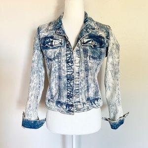 Mossimo Acid Washed Blue Denim Jeans Jacket
